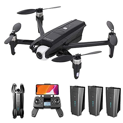 Drone GPS KK13 con videocamera HD 4K per adulti, drone FPV WiFi 5G con giunto cardanico a 2 assi, motore brushless, quadricottero RC pieghevole con GPS ritorno a casa, seguimi, custodia e 3 batterie