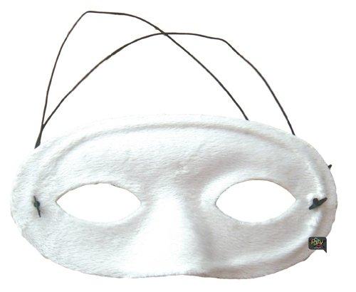 Party Pro 87322506 Masque Vénitien Rose Loup Velours Blanc