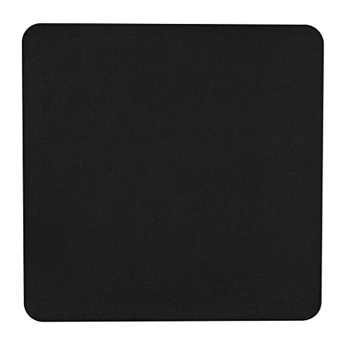 House, Home and More Skid-Resistant Carpet Indoor Area Rug Floor Mat - Black - 3 Feet X 3 Feet