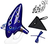 Dram Legend of Zelda Ocarina Instruments, 12 Hole Alto C Ocarina with Display Stand, Song Book, Black Protective Bag and Neck Cord Gift For Zalda Fans