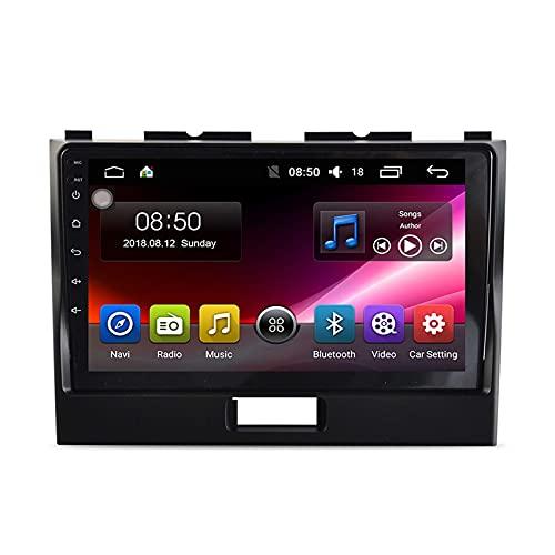 Android Car Stereo Bluetooth 9 pollici Touchscreen Autoradio con fotocamera per il backup Auto Radio GPS Navigazione FM SWC WiFi MP5 USB per Suzuki Wagon R 2010-2018 ( Color : 4 cores WIFI:1+16G )