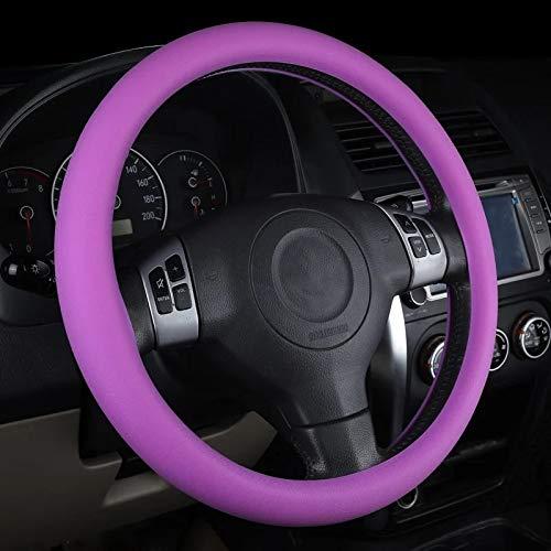 Fanville - Funda para volante de coche de silicona, antideslizante, para proteger el volante