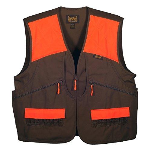Gamehide Switchgrass Upland Field Bird Hunting Vest (Chestnut Brown/Orange, Small)