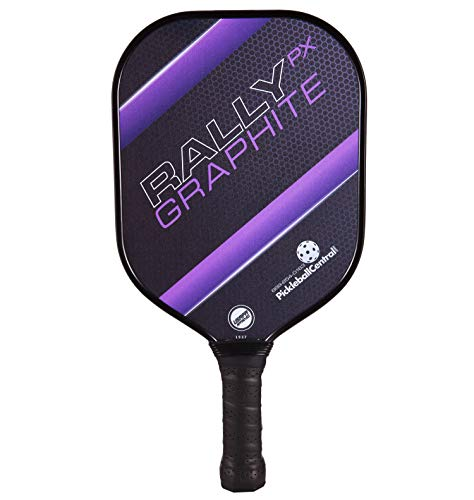 Rally Graphite Pickleball Paddle PX | Polymer Composite Honeycomb Core, Graphite Carbon Face | Lightweight | USAPA Approved | Purple