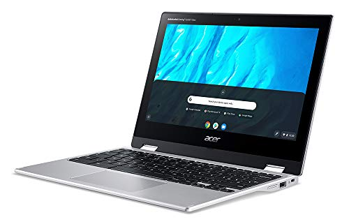 "Acer Chromebook, Touchscreen, Spin 311 CP311-3H-K0KH Notebook con Processore MTK MT8183 con Octa-core CPU, Ram 4 GB, 64 GB eMMC, Display 11.6"" HD Multi-Touch LCD, Mali-G72 MP3, Chrome OS, Silver"