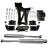 Dual Steering Stabilizer Kit made in the USA with USA Steel and Bilstein Cylinders compatible w/ 2017-2020 Ford F250/F350 Super Duty 4WD Mfg by Stryker Off Road Design