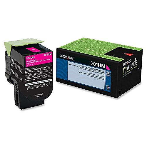 Lexmark, LEX70C1HM0, 70C1H Toner Cartridge, 1 Each, Magenta (701HM)