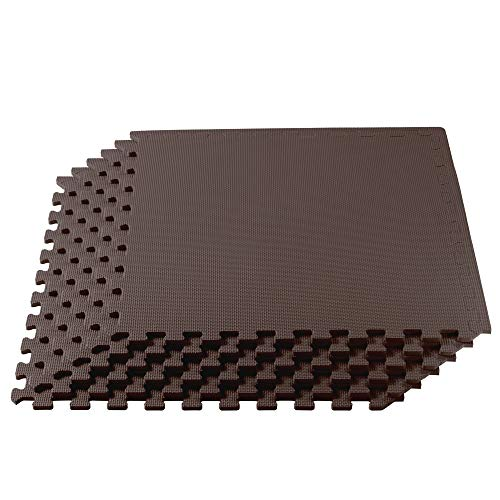 We Sell Mats 1/2-inch Multi-Purpose, Brown, 48 Sq Ft (12 Tiles)