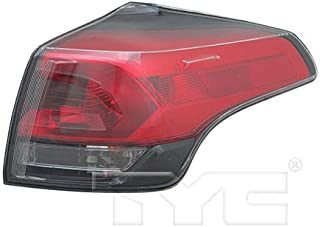 CarLights360: Fits 2016 2017 Toyota RAV4 Tail Light Assembly Passenger Side (Right) CAPA w/Bulbs w/o LED Type - Replacement for TO2805133 (Trim: LE; Sport Utility ; LE ; XLE; Sport Utility ; XLE)