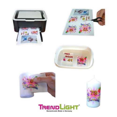 Fototransferpapier A4 210x297 mm 1 Blatt für Kerzen