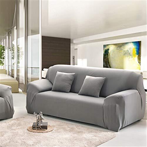 ChairoZiMi Three All-Inclusive Generic Leather Sofa Cushion Sofa Cover Towel Universal Custom Summer Full Cover1pcs Gray Three seat Sofa