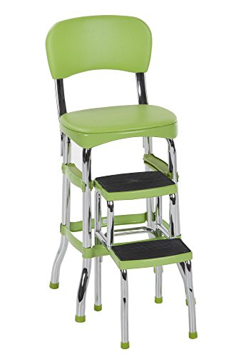 Cosco Green Retro Counter Chair / Step Stool