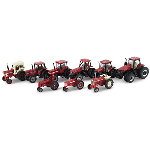 ERTL 1/64 Limited Edition 9 Piece Tractor Set, 75th Anniversary, One Time Production 44226