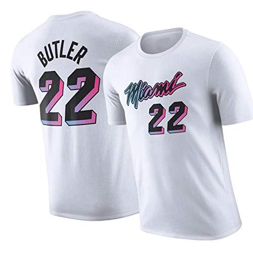 WXZB Camiseta de Baloncesto de los Hombres Calor # 22 Butler, Jersey de Baloncesto Swingman, Camiseta Retro del Cuello Redondo, suéter de Entrenamiento de Cuello Redondo L