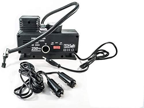 VM-Store Mini COMPRESSORE per Auto CANOTTI Bici GONFIABILI con Spina 220V - 12V Portatile