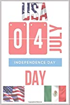 04 july: independence day Lined Notebook Journal - 120 Pages - (6x9 )