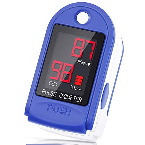 Best Review Of Pulse Oximeter Fingertip, Blood Oxygen Saturation Monitor, Heart Rate Monitor and SpO2 Level Meter with Large LED Display, Liorque Portable Oximeter with Lanyard and Batteries
