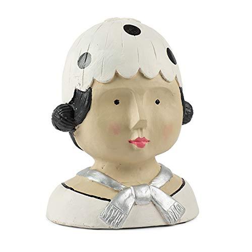 Baden Aufsteller Deko Kopf Ladykopf mit weißer Mütze Frauenkopf Kopf Büste