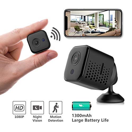 Hidden Camera Wireless, Novosun Portable Mini Spy Camera,WiFi 1080P Nanny Cams, Security Camera for Home and Outdoor (with Cell Phone APP)