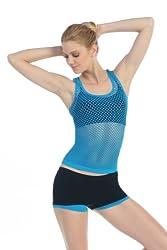 Kurve Fishnet Tank Women's Turquoise