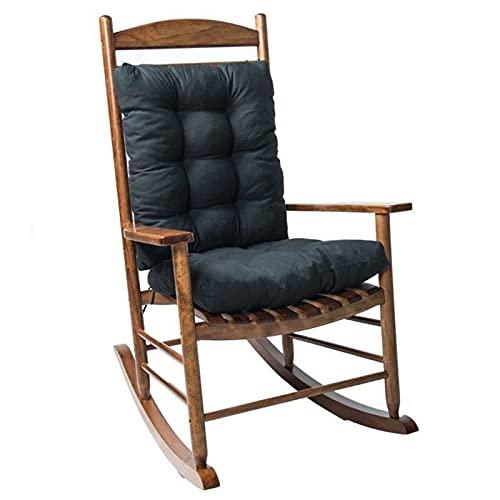 EXQULEG Niedriglehner Stuhlauflage,Niederlehner Auflage Gartenstuhl Stuhlkissen mit Rückenteil Sitz, Rückenkissen Sitzkissen für Gartenstühle Sitzpolster (Schwarz)