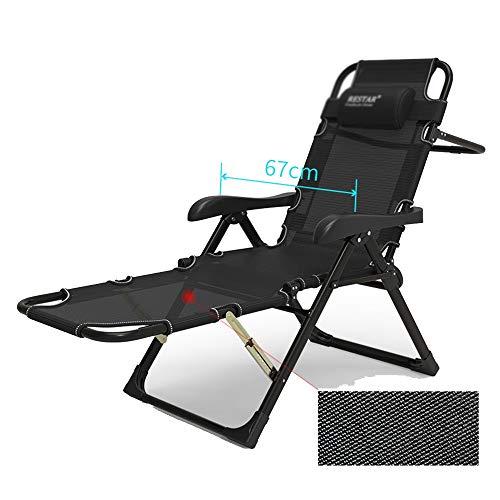 YNN Fauteuil Lounge Chaise Pliante Multifonction Paresseux Dossier Chaise Ménage Automne Hiver (Couleur : C)
