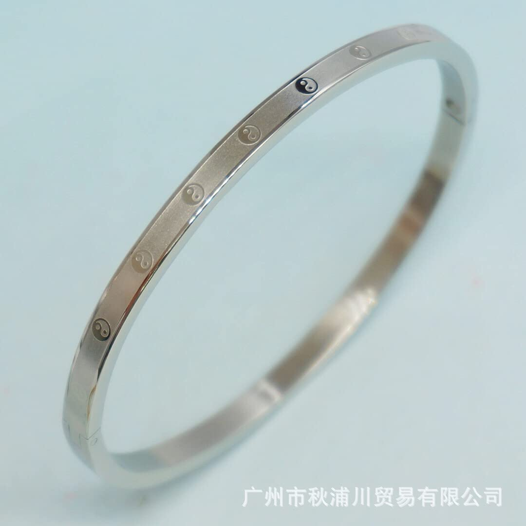 Love Bracelet Mens Gold Plated Bangles Arm Cuff for Women Stainless Steel Roman Numeral Personalized Bracelets