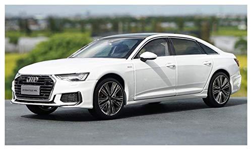 Modelo Coche 1/18 para Audi para A6 para A6L 2019 Diecast Car Vehicle Modelo Boy Boy Collection Black White Gold Casting Modelo de Coche para Niños Regalo (Color: Blanco) jianyou ( Color : White )