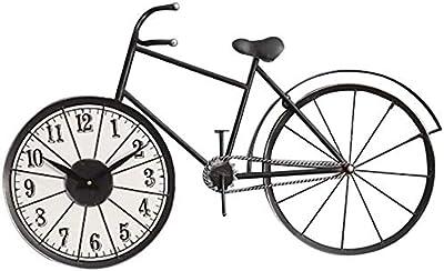 American Old Retro Mute reloj de pared creativo reloj de bicicleta ...