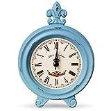 Vintage Desk Clock 丨Table Clock on Stand丨Rustic...