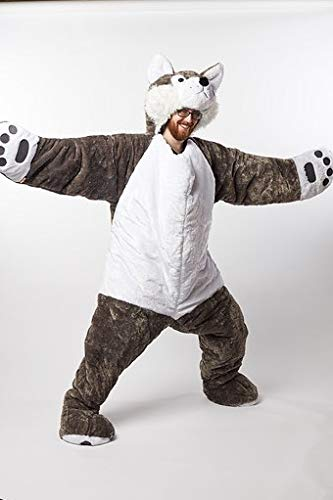 Snoozzoo Adult Wolf Sleeping Bag for Adults up to 75 inches Tall.