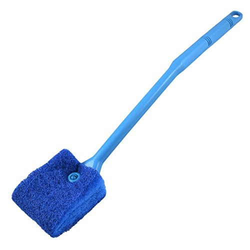CNZ Double Sided Sponge Cleaning Brush Cleaner Algae Scrubber, Blue