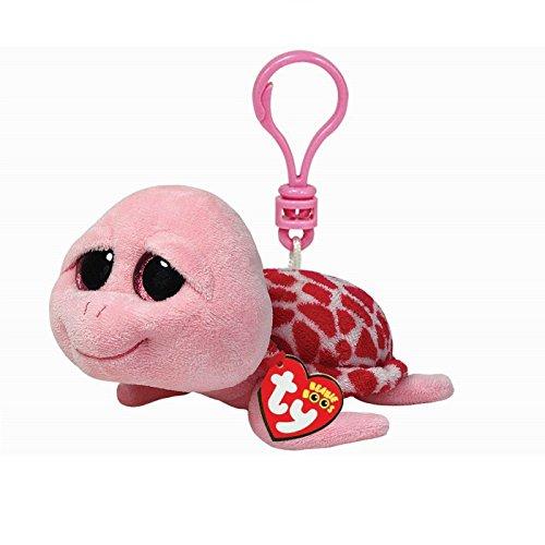 Carletto Ty 36590 Ty 36590-Shellby Clip Schildkröte mit Glitzeraugen Beanie Boo's, 8.5 cm, pink