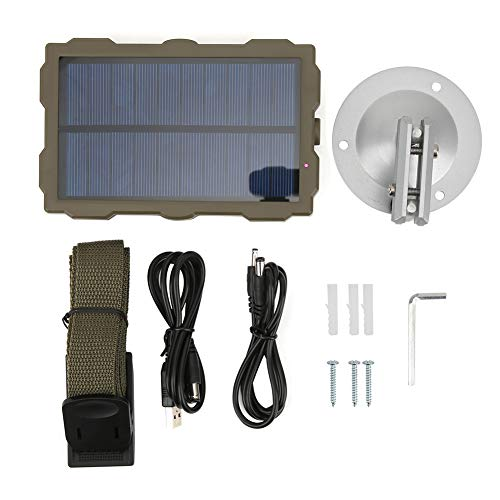 HERCHR Portable Solar Charger with Bracket for Infrared Camera, Cell Phone Power Bank (Built-in Battery)