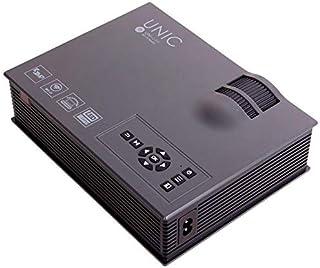 بروجيكتور بنظام مسرح منزلي متعدد الوسائط بإضاءة ليد 1800 لومن وجودة HD 1080 بيكسل - UC68 - اسود