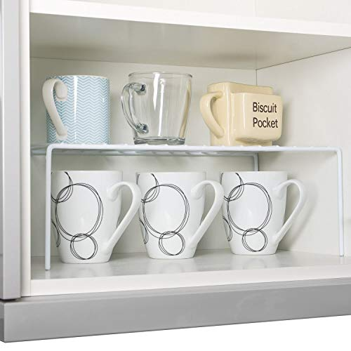 Home Treats Wire Shelf Insert | Organiser Rack for Home and Kitchen Cupboard Storage