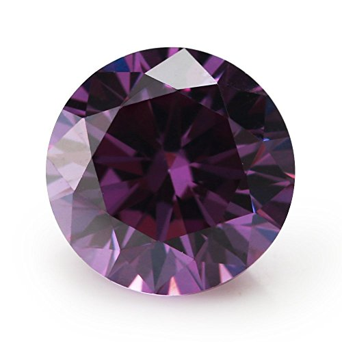Alone Moon Colour Cubic Zirconia Loose Gemstones Round Europe Machine Cut High Temperature Wax Setting for Jewelry Making purple1.5mm1000pcs