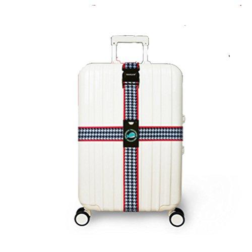 TTD Travel Gepäckriemen, Cross Design Koffer Verpackung Gürtel-TypA