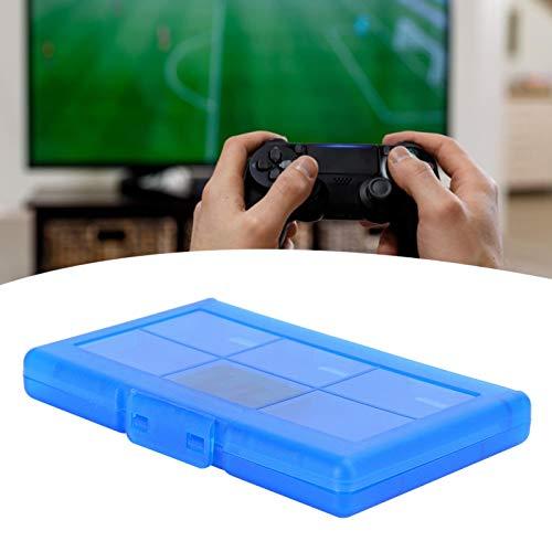 DAUERHAFT Caja de Almacenamiento Protectora rígida 12 en 1 para NintendoSwitch(Blue)