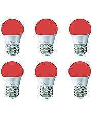 6 قطعة لمبات ليد كروي ميديا 3 واط لون الاضاءة أحمر