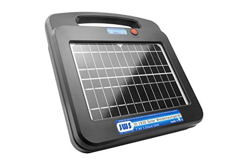Weidezaungerät Solar 12 Volt Elektrozaungerät 12V 20km Elektrozaun, Ausführung:20km 1Joule