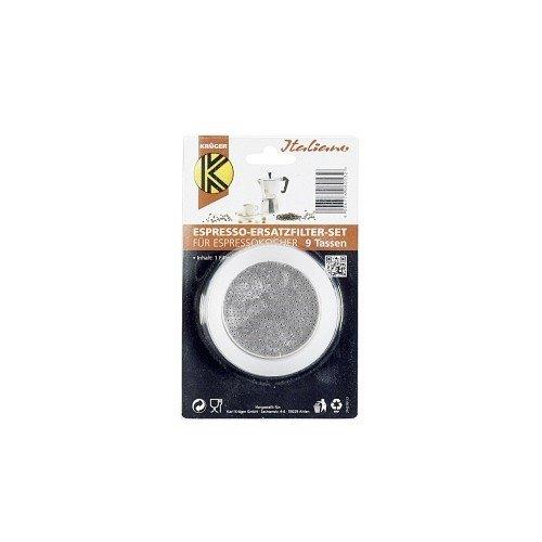 Karl Krüger 506S 1 Filter u. 3 Dichtr. f. Espressok 9 T, Silikon, Weiß