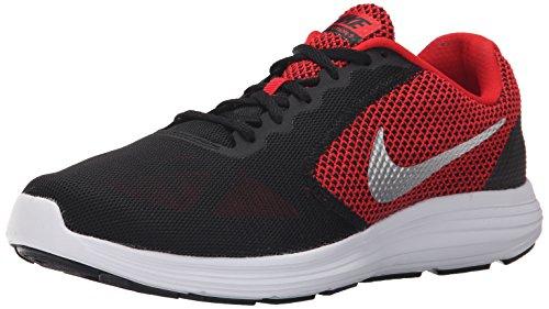 Nike Men's Revolution 3 (4E) University Red/Mtllc Slver/Blk/White Running Shoe 12 4E Men US