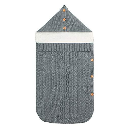 LETU Babyschlafsack,Neugeborenes Baby Gestrickt Wickeln Baby Swaddle Blanket Decke Kinderwagen Schlafsack Für Babys 0-18 Jahren (grau)