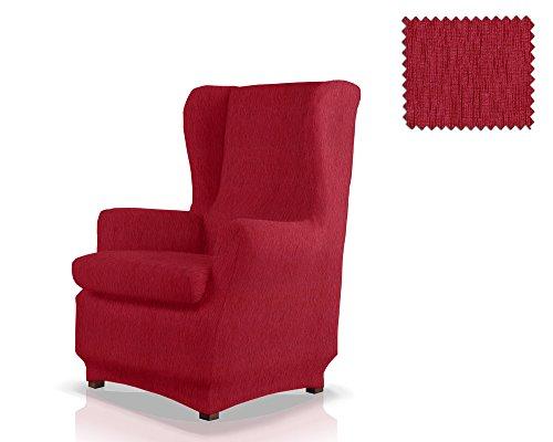JM Textil Copripoltrona Elastico con Orecchie Haber Dimensione 1 Posto (Standard), Colore 08 (Vari Colori Disponibili.)