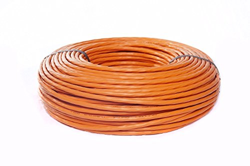 BIGtec 30m CAT7A Netzwerkkabel 1500Mhz Verlegekabel Datenkabel Installationskabel 10 Gigabit Ethernet LAN Kabel CAT7 orange doppelt geschirmt SFTP AWG23 LSHF FRNC Kabel halogenfrei flammwidrig