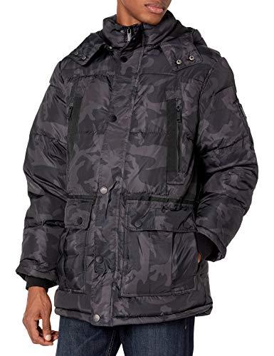 Rocawear Men's Puffer, Black, 3X