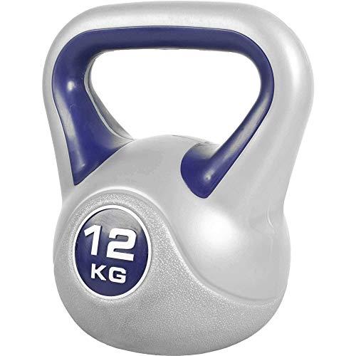 GORILLA SPORTS® Kettlebell Stylish 2-20 kg Kunststoff – Fitness-Kugelhantel 12 kg