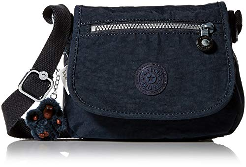 Kipling Women's Sabian Mini Crossbody, Lightweight Everyday Purse, Nylon Shoulder Bag, True Blue Tonal