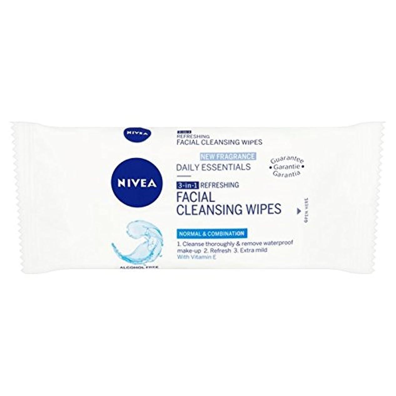 大最愛の海峡ひもニベアミニ洗顔パックあたりの旅行パック7ワイプ x2 - Nivea Mini Facial Cleansing Wipes Travel Pack 7 per pack (Pack of 2) [並行輸入品]